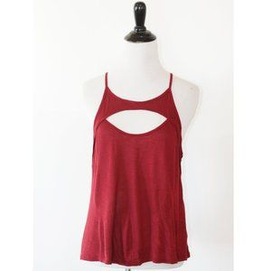Emma & Sam Cutout Front Red Tank Top S